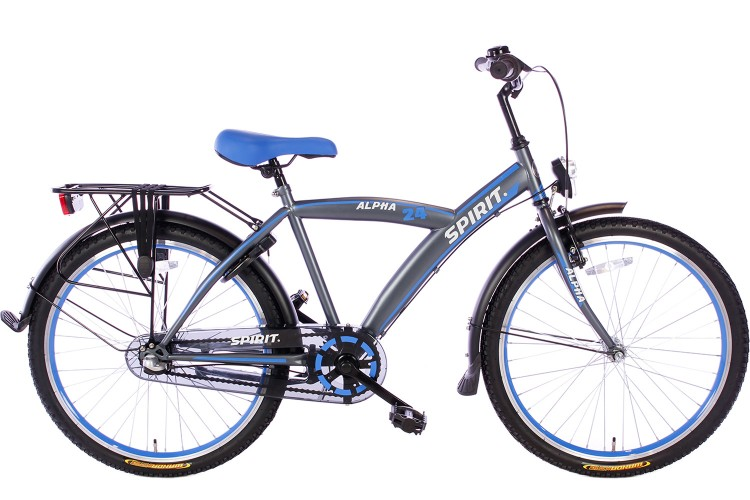 Spirit Alpha N3 Jongensfiets Blauw 24 Inch