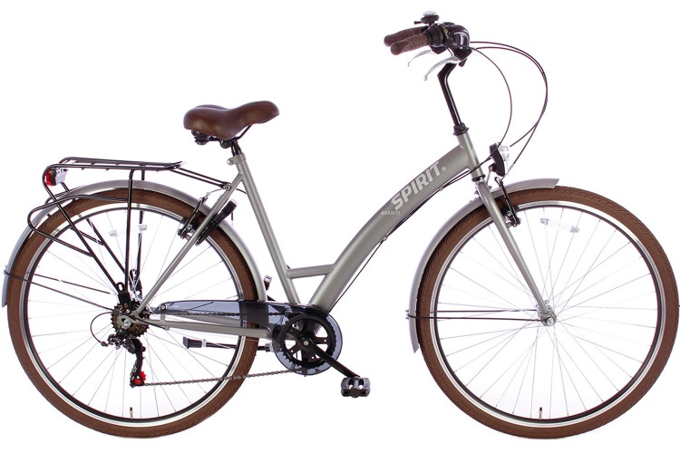 Spirit Avanti Damesfiets 6-Speed Mat-Grijs