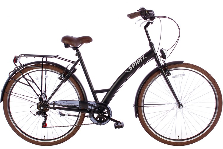 Spirit Avanti Damesfiets 6-Speed Mat-Zwart