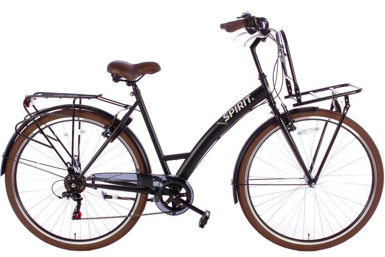 Spirit Avanti Damesfiets Plus 6-Speed Mat-Zwart