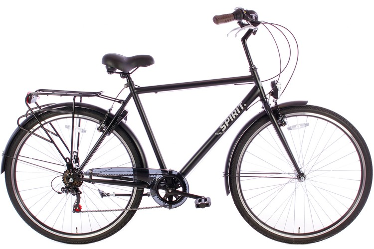 Spirit Herenfiets Avanti 6-speed Mat-Zwart 2019
