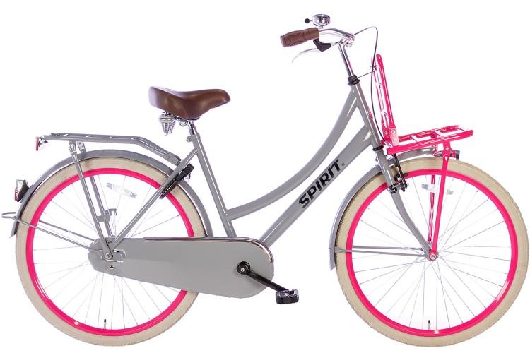 Spirit Cargo Meisjesfiets Grijs-Roze 26 inch