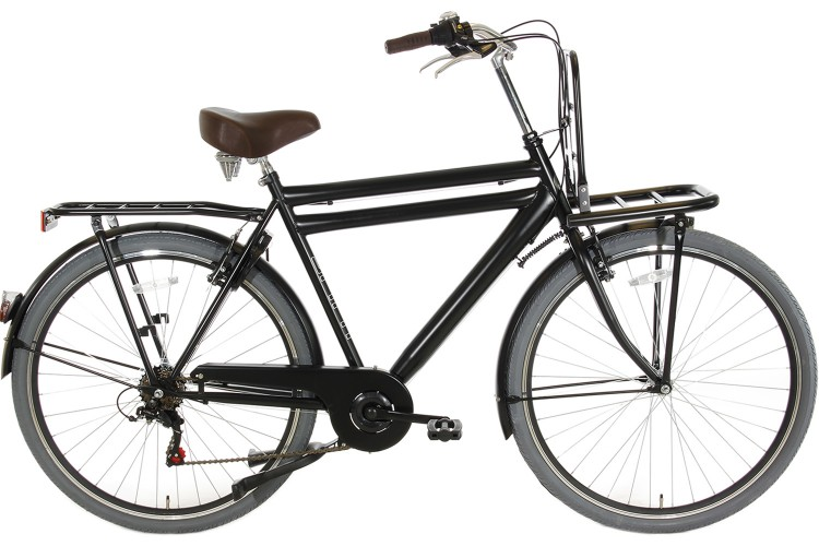 Spirit Transporter 6-Speed Herenfiets Mat-Zwart