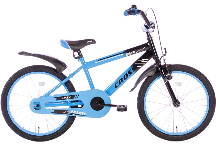 Spirit BMX Cross Jongensfiets blauw 22 Inch