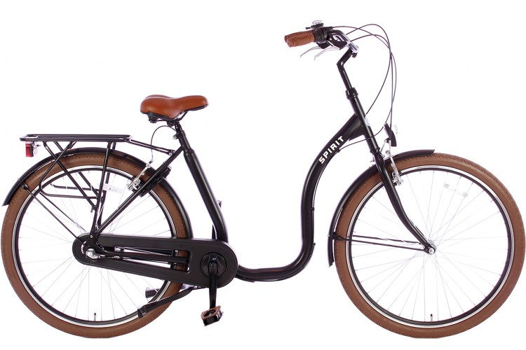 Spirit Easy N3 Lage instap fiets Mat-zwart