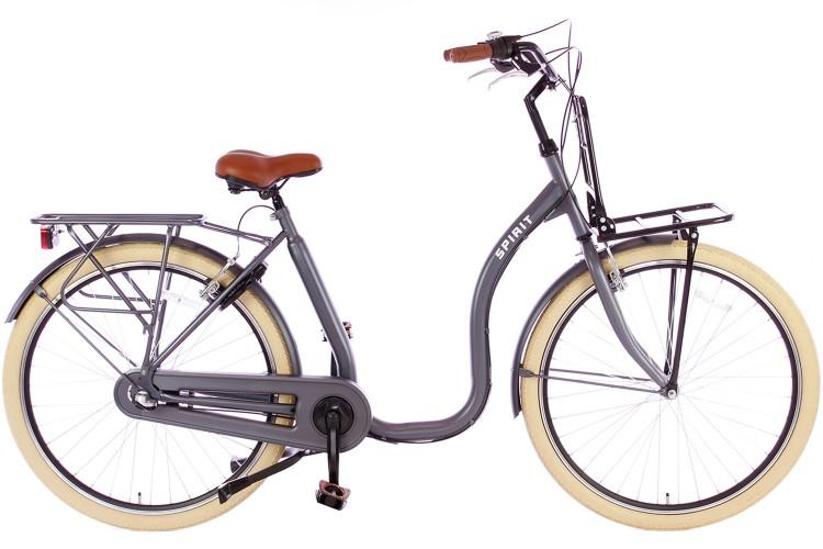 Spirit Easy N3 Plus Lage instap fiets Mat-grijs