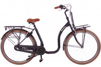 Spirit Easy N3 Plus Lage instap fiets Mat-zwart