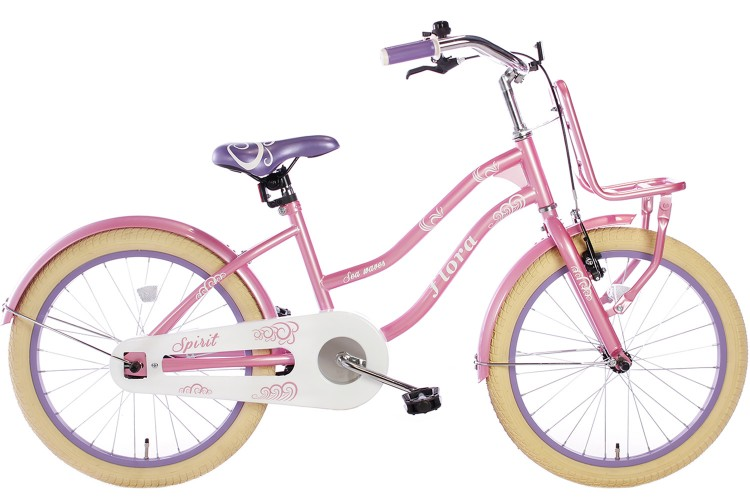 Spirit Flora Meisjesfiets Roze-Paars 18 inch
