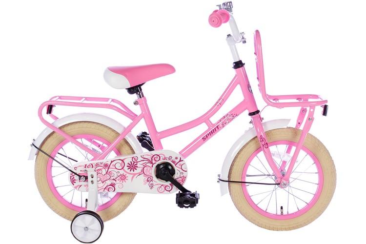 Spirit Meisjesfiets Roze 12 inch