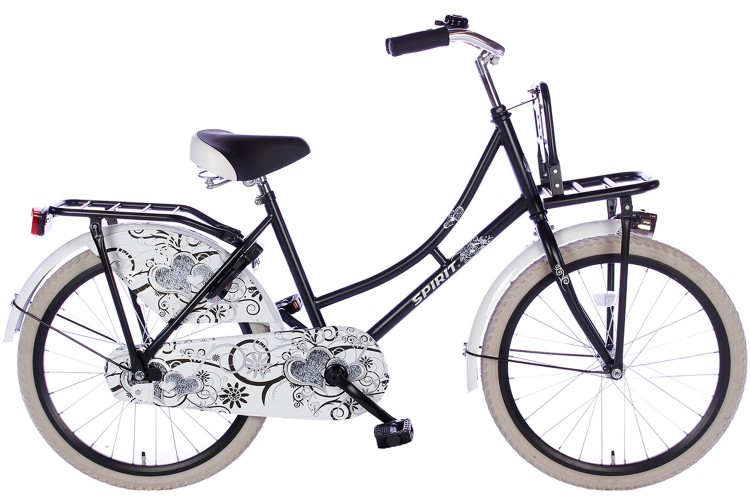 Spirit Omafiets Mat-Zwart Meisjesfiets 22 inch