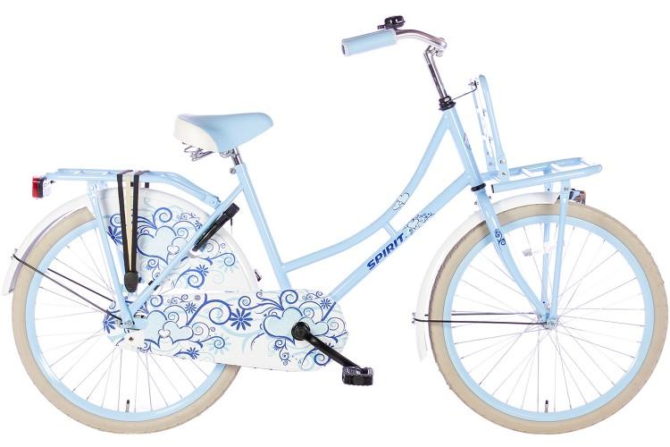 Spirit Omafiets Bloem Blauw Meisjesfiets 22 inch