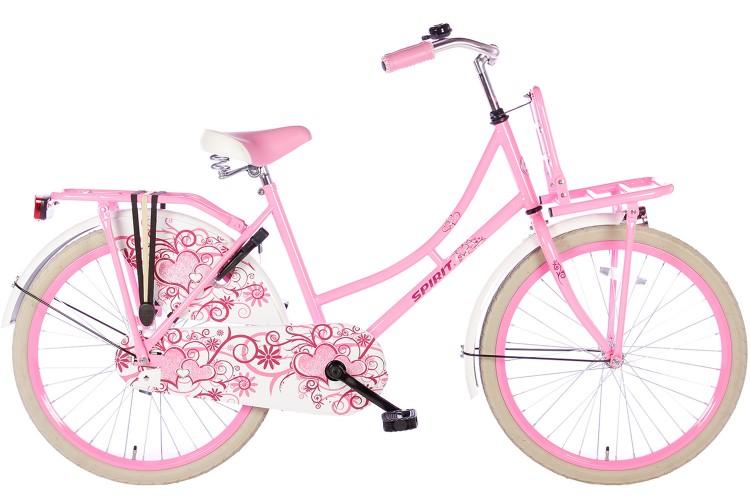 Spirit Omafiets Roze Meisjesfiets 24 inch