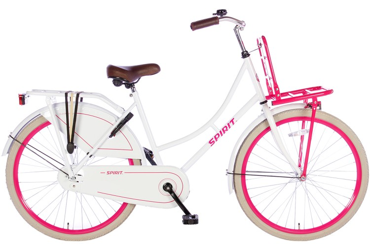 Spirit Omafiets Wit-Roze Meisjesfiets 24 inch