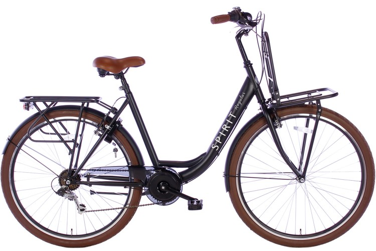 Spirit Regular Plus Damesfiets 7-Speed Mat-Zwart