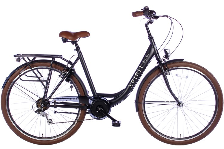 Spirit Regular Damesfiets 7-Speed Mat-Zwart