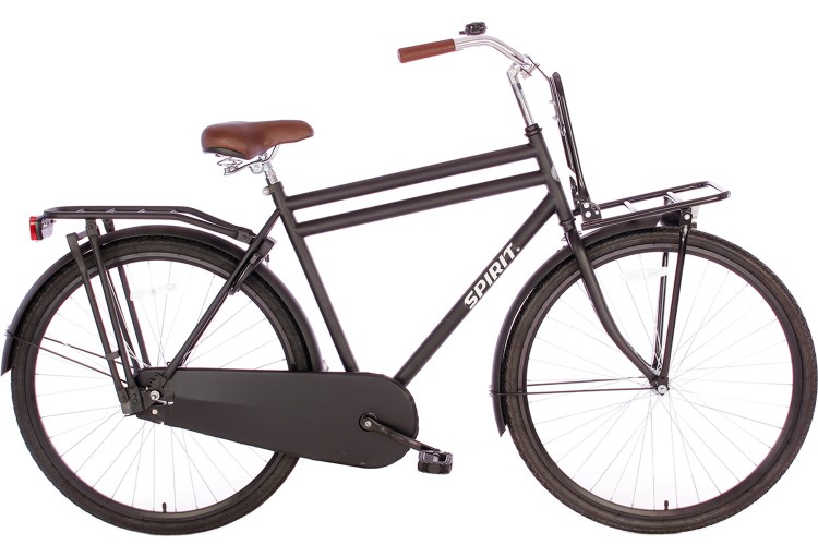 Spirit Retro Plus Heren mat-zwart 28 inch