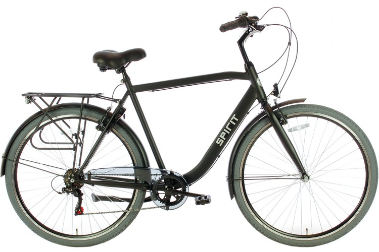 Spirit Strong Herenfiets 6-Speed Mat-Zwart