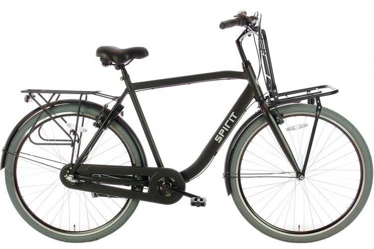 Spirit Strong Plus Herenfiets 3 versnellingen Mat-Zwart