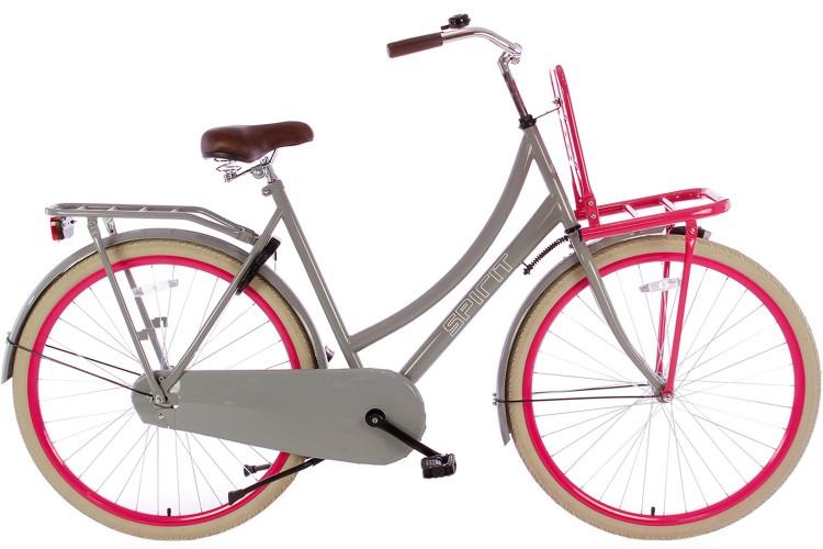 Spirit Dames Transportfiets Grijs-Roze