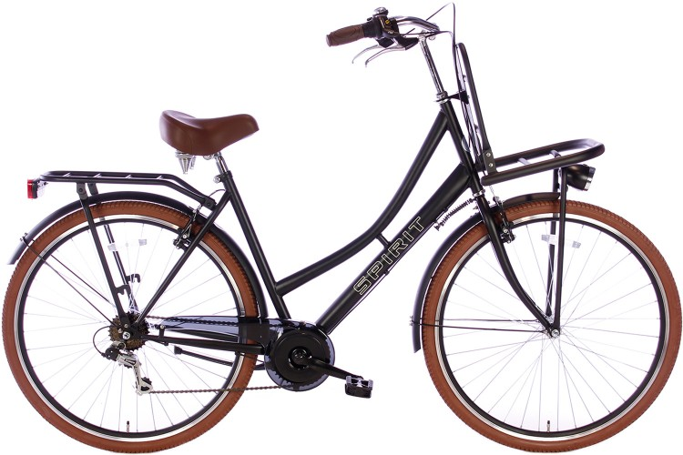 Spirit Transporter 7-Speed Damesfiets Mat-Zwart 2019