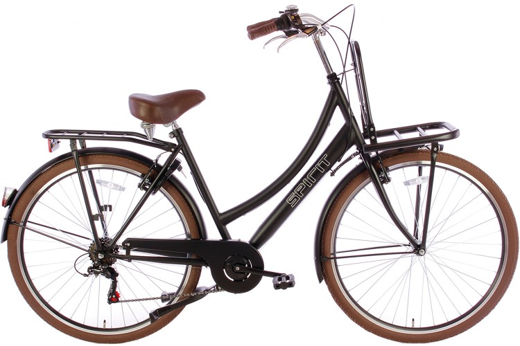 Spirit Transporter 6-Speed Damesfiets Mat-Zwart