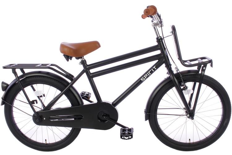 Spirit Urban Jongensfiets Mat-Zwart 20 inch
