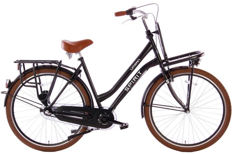 Spirit Urban N3 Transportfiets Mat-Zwart