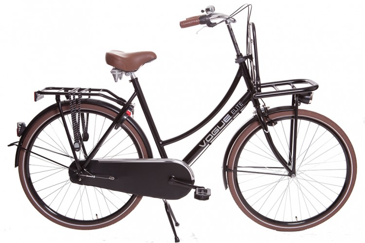 Vogue Elite Dames Transportfiets N3 Mat-zwart 2017
